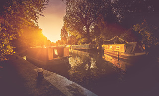 sunset along the canal