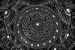 Rotunda of Mosta (Rik Tiggelhoven Travel Photography) Tags: parish church assumption knisja santa marija rotunda dome roman catholic mosta malta europe europa architecture building interior geometry geometric monochrome blackandwhite black white noir bn bw sw canon 6d fullframe ef815mmf4lfisheyeusm fisheye ceiling rik tiggelhoven travel photography art hdr details iglesia