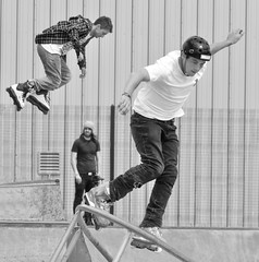 West Coast Clash Skating Competition.. (Imagine8 Photography) Tags: monochrome bw people skate skater skating westcoastclash competition evolution skatepark jump twist turn saltcoats ayrshire scotland nikon imagine8photography