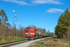 Тепловоз 2М62У-0143 / 2m62U diesel locomotive (anton_malyshev) Tags: train railroad locomotive diesellocomotive russia karelia landscape railway m62 2m62
