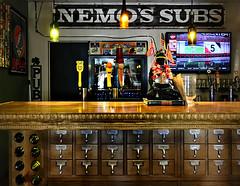 Woodstock Hippie Bar • Vermilion, Ohio (SteveMather) Tags: woodstock cafe hippie bar dewey decimal library cabinet vermilion ohio nemossubs sign