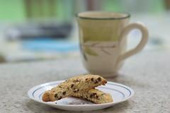 Biscotti and Tea (nicoletufaro) Tags: biscotti tea coffee homemade baked bakery dessert pastry chocolate cookie