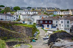 The 'Cousins Day Out' - Portscatho. (john lunt) Tags: british seaside portscatho cornish fishing village english sea harbour boats water houses cottages stone colourful colorful roseland peninsula cornwall england uk britain coastline coast coastal shore shoreline south west path rural picturesque attractive beautiful color colour john lunt johnlunt cousins day out nikon d810 85mm f14 prime lens hdr tonemapped landscape seascape boating
