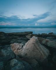 Coquina at sunset (jecht360) Tags: coquina rock ocean water waves sunset florida washingtonoaks park beach longexposure