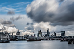 Clouds over the city (Anthony P26) Tags: category citiestowns england london places riverthames stpaulscathedral thecity travel cityscape skyline river water watercourse waterfront landmarks travelphotography uk unitedkingdom english british britain greatbritain outdoor bridge towerblocks officebuilding officeblocks financialdistrict canon canon70d canon1585mm city capitalcity longexposure sky clouds cloudysky