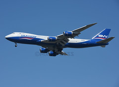 VQ-BBH (MAB757200) Tags: silkwaywestairlines b74783qf vqbbh azerbaijancargo newyork kennedy jfk kjfk jetliner runway31r aircraft airplane airlines boeing