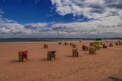 Baltic Sea - Beach Chairs (relaxedhothead) Tags: travemünde baltic sea apsc fuji xe2 jpeg lightroom outdoor photoshop raw timmendorfer strand beach ostsee xf 1855mm meer himmel