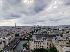 Paris (chiarabusiello) Tags: paris cathedralenotredame notredame cathedrale senna river nature torreeiffel sky colors photo