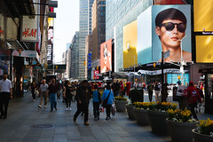 Streets of New York City (Kai Pilger) Tags: times square new york city nyc america usa architecture street day sidewalk hm snapchat buidlings urban people crowdy busy advertisments