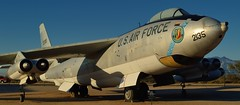 USAF Boeing EB-47E Stratojet ELINT jet bomber 1953 - Pima Air & Space Museum, Tucson, Arizona. (edk7) Tags: nikond3200 edk7 2013 usa arizona tucson arizonaaerospacefoundation pimaairspacemuseum unitedstatesairforce usaf boeingeb47estratojet 532135 1953 electronicintelligencegathering elint sixengine aircraft plane airplane jet aviation military mediumbomber generalelectricj47ge25aturbojet6000lbf sunset museum
