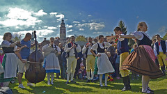 Bohemian folklore (t.horak) Tags: beauty beautiful activity folklore celebration may costumes folk music dance bass instruments musicians dancers czech bohemia bohemian young people krumlov tower castle pipes boys girls spring festival decorated festive skirts