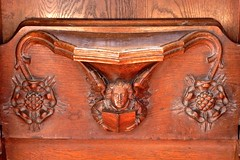 Arundel Castle - The Fitzalan Chapel - Choir Stalls and Misericords (Glass Angel) Tags: choirstalls misericords woodcarvings arundelcastle fitzalanchapel sussex angel