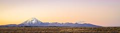 Place of Work (ajecaldwell11) Tags: ngauruhoe mountain tongariro tongarironationalpark newzealand sunset alpine clouds nationalpark mountains sky tussock dusk volcano light snow