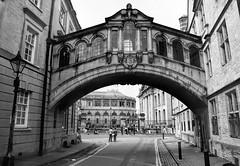 """""""Bridge of Sighs"""" (otherwise known as Hertford Bridge) (WilliamND4) Tags: nikond750 oxford england blackandwhite bw bridge college"""