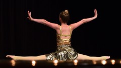 Golden Form, part 2 (R.A. Killmer) Tags: gold golden costume beauty graceful talented stage entertainer performer teen girl senior graduate smile form