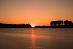 Sunset / Zonsondergang (Stef32Photo) Tags: longexposure langesluitertijd sunset zonsondergang geestmerambacht zonlicht sunlight reflectie reflection water dark donker silhouet nikon d5300 sigma sigma18200mm koedijk evening avond oranje orange trees bomen noordholland northholland