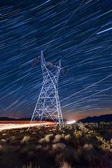 Power Lines (John Lemieux) Tags: nikon d700 night astrophotography star trails highway 395 us395 owens valley eastern sierra landscape