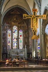 Giotto's Crucifix, Santa Maria Novella (Ray Boone) Tags: santa maria novella florence italy firenze catholic church giottos crucifix
