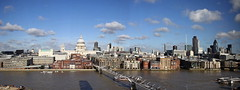 London Skyline (frankygoes.com) Tags: london skyline view tate modern gallery united kingdom processed saint paul cathedral millennium bridge thames river pano panorama panoramic cloud sky clouds canoneos1000d rebelxs canon eos 1000d 1855 efs city città fiume torre galleria ponte cloudy nuvola nuvole nuvoloso cielo