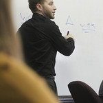 A professor giving a lecture