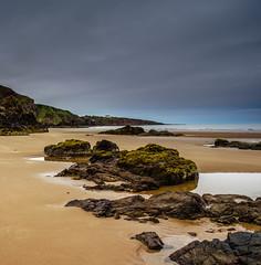 The Beach (burnsmeisterj) Tags: olympus omd em1 stcyrus scotland beach rocks water sea