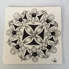Square One: Purely Zentangle FB Page - Agni (ZChrissieCZT) Tags: agni