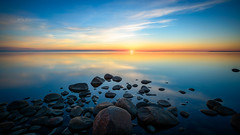 Sunset 8.6 (M.T.L Photography) Tags: mtlphotography mikkoleinonencom landscape seascape sea beach sun summer sunset water rocks smooth color nikond810 nikkor1424 outdoor sky horizon night wideangle