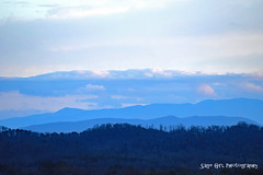 Clouds over the Smoky Mountains (Sage Girl Photography) Tags: smokymountains tennessee morristown shadesofblue clouds sky evening nature outdoor view zoom sagegirl nikond3300 trees inthedistance