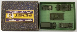 Dinky Toys Gift Set No.5 Military Vehicles and Box