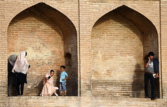 Twice (deus77) Tags: esfahan iran isfahan allāhverdi khan bridge sioseh pol portrait portraits street photography iranian people selfie doors architecture persian
