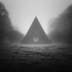Blickling Mausoleum28/03/2017 (Matthew Dartford) Tags: bw blackandwhite blickling bokeh deaalict dead fog hall lowkey mist misty mono piramid temple wood