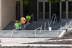 Assembling the handrails :D (eL Bz) Tags: cba assemblinghandrails assembly working workmen construction railings