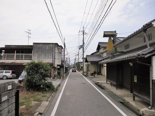 Rain cloaks for sale, Nakasendo at Toriimoto (Hikone)