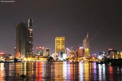 City Lights (theotrieste) Tags: city view lights vivid lighting colourful blend mix saigon vietnam