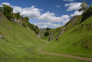 The Path To Castleton, Peak District National Park, Derbyshire, England.