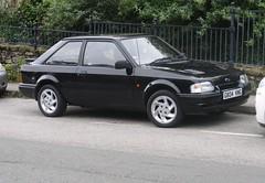 Ford Escort 1300 Bonus (occama) Tags: g804vmg ford escort 1300 bonus 1989 black old car cornwall uk modified