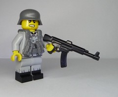 'More of these new rifles, please!' - BrickArms Stg-44 (enigmabadger) Tags: brickarms lego custom minifig minifigure fig weapon weapons accessory accessories combat war world production new