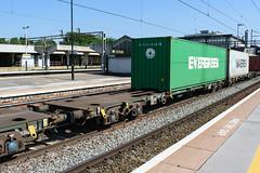 607024 Northampton 260517 (Dan86401) Tags: 607024 fta freightliner fl inner intermodal modal containerflat wagon freight northampton wcml 4l90 evergreen