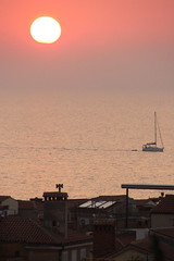 A Boat At Sunset (Alan1954) Tags: pirn sea adriatic sunset slovenia holiday 2016 boat
