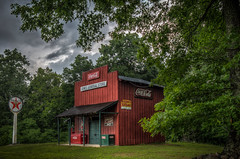 Jones General Store (donnieking1811) Tags: tennessee gainesboro generalstore jonesgeneralstore building signs cocacola texaco kernsbread 7up jeffersonislandsalt exterior outdoors trees sky clouds hdr canon 60d lightroom photomatixpro