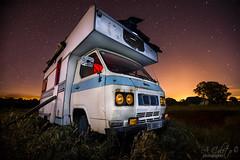 Night caravan (A.Coleto) Tags: noche night autocaravana canon linterna cálida fira roja estrellas
