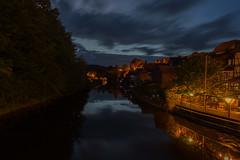 Nachts am Fluß (..Jan.) Tags: fluss flus river night nacht deutschland germany kanu kajak sooden hessen allendorf brück schleuse werra brücke bridge