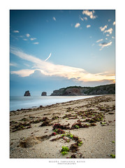paraíso (begonafmd) Tags: playa arena mar océano algas cielo nubes azul paisaje beach ocean sable bleu plage paysage