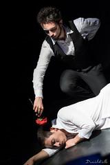 Sleep (DanAie) Tags: teatro theatre scene art artistic artist actor black dark darkness italia italy pisa action stage onstage flower red