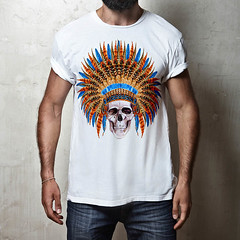 indian skull (D E S I G N - T) Tags: hipster model guy fashion fashionable stylish posing casual people trendy muscular masculine man macho sexy lifestyle look shirt t tshirt white blank clothing front design elegance clothes store mock up mockup square