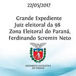 Grande Expediente - Juiz eleitoral da 98ª Zona Eleitoral do Paraná, Ferdinando Scremin Neto