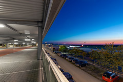 Dreaming Of Holidays (Occulytus) Tags: parkdeck parkhaus blue evening abend airport flughafen paderborn