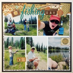 LOAD23 Fishing Day (girl231t) Tags: 2017 paper scrapbook layout 12x12layout load load517 load23 rsg rsg3 sketch5 sketchbased