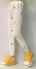 White With Gold Dot Tights... For Blythe...