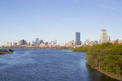 Afternoon on the Charles (imartin92) Tags: boston cambridge massachusetts charlesriver bostonuniversity harvard bridge river skyline hancock prudential tower